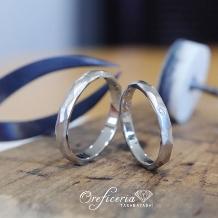 Oreficeria高林_【ふたりで作る手作り結婚指輪】削り出し多面体デザイン◆作る時間も特別な思い出に