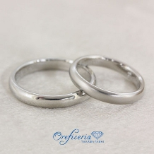 Oreficeria高林_【ふたりで作る手作り結婚指輪】着け心地なめらか甲丸リング 子供も安心