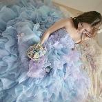 カラードレス、パーティドレス:ブライトブルー