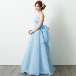 ブライトブルー:【大手参考価格28万→5万8000円】甘すぎないブルードレスは大人花嫁に大人気!