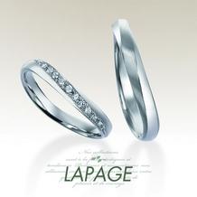 LAPAGE(ラパージュ)_【LAPAGE】ベーシックコレクションハミルトン島の風/つけ心地のよい彫留リング
