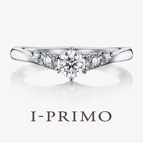 アイプリモ:【ミザール】V字リングで指を長く細く見せてくれる!両サイドのメレダイヤも上品。