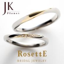 JKPlanet(JKプラネット)_【JKPlanet】ロゼット MAGIC~魔法~コンビリング 結婚指輪