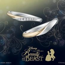 JKPlanet(JKプラネット)_ディズニー 美女と野獣 期間本数限定結婚指輪/マリッジリング【JKPlanet】