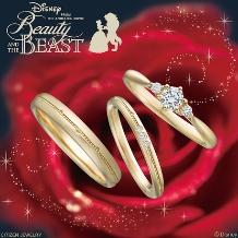 JKPlanet(JKプラネット):ディズニー 美女と野獣 ゴールド結婚指輪/マリッジリング【JKPlanet】