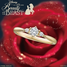 JKPlanet(JKプラネット):ディズニー 美女と野獣 婚約指輪/ゴールドエンゲージリング【JKPlanet】