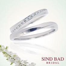 SIND BAD_結婚指輪 クロスタイプ エタニティとクロスしたよう【2本¥144,720~】