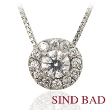 SIND BAD_婚約の記念にダイヤモンドのペンダント ヘッド 指輪のサイズがわからなくても大丈夫