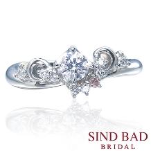 SIND BAD_婚約指輪【Tiara】花嫁を輝かせるティアラをイメージ