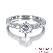 SIND BAD_婚約指輪【美星 りせ】美しい星の連なりをイメージ メレダイヤ10石が輝く婚約指輪