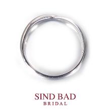SIND BAD BRIDAL:結婚指輪【凛星(りんぜ)】指元に光る白金の星空サファイアをアレンジ