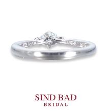 SIND BAD BRIDAL:婚約指輪【紅双葉(べにふたば)】いつしか芽生えた、ほのかな想い