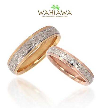 SIND BAD:結婚指輪【ハワイアンリング】ピンクゴールド・イエローゴールド&プラチナのコンビ!