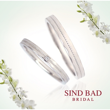 "SIND BAD:結婚指輪【""Spark Ring""スパークリング マリッジリング】シリーズ"