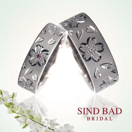 SIND BAD:彫り模様の結婚指輪【妃草 ひぐさ】職人による手彫りのマリッジリング