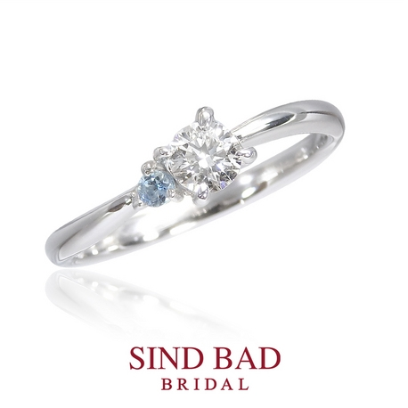 SIND BAD BRIDAL:婚約指輪【かぐや】巡り会い、惹かれ合う