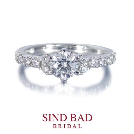 SIND BAD BRIDAL:婚約指輪【泉(いずみ)】尽きることのない光の奔流を湛えて