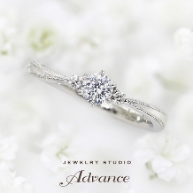 JEWELRY STUDIO Advance_【Advance】Prie(プリエ)『かすみ草の花言葉に想いを託したリング』