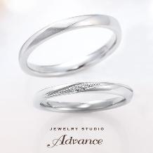 JEWELRY STUDIO Advance_【Advance】スペシャルセットリング『シンプルなストレートライン』