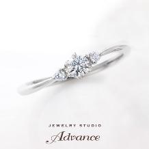 JEWELRY STUDIO Advance_【Advance】スペシャルセットリング『やわらかい動きのあるライン』
