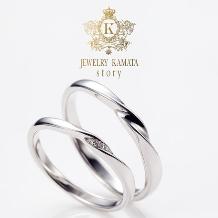 JEWELRY KAMATA story:シンプルになりすぎず、ポイントで入ったダイヤが素敵 adoration ~敬愛~