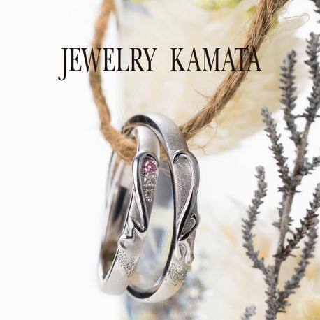 JEWELRY KAMATA(ジュエリーかまた):ふたりだけの特別な合わせハート イニシャルハートリング