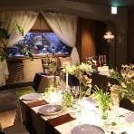 心斎橋ライム アクアリウムダイニング:テーブルクロスもご希望によりご用意可能でございます♪