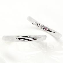 Ginza Rim/銀座リム:【銀座リム/ステラ】シンプルにあしらった小さなピンクダイヤは「幸せのお守り」