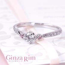 Ginza Rim/銀座リム:【銀座リム/ローズ】ほっそりとしたくすり指を演出するなら、このリング!