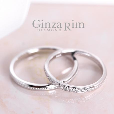 Ginza Rim/銀座リム:【銀座リム/エヴリン】10粒のダイヤが煌めく★シンプル&細みリング