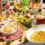 BeeRUSH UMEDA:彩り豊かなお野菜たっぷりコース