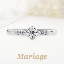 Mariage(マリアージュ):【マリアージュ】 ~ロン・ボヌール:幸せのサークル~ 0.2ct~