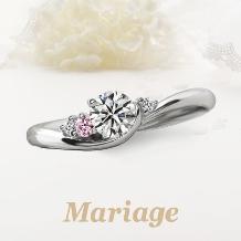 Mariage(マリアージュ)_【マリアージュ】~シェリール:愛おしい~ 0.25ct ピンクサファイアアレンジ