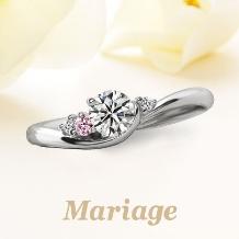 Mariage(マリアージュ):【マリアージュ】 ~シェリール:愛おしい~ 0.25ct ピンクダイヤアレンジ