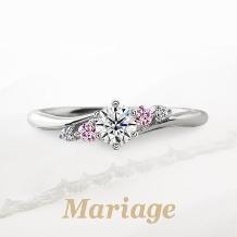 Mariage(マリアージュ):【マリアージュ】~プレディスィ:近くに~ 0.25ct ピンクサファイアアレンジ
