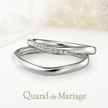 Mariage(マリアージュ)_【マリアージュ】~ヴァーグ:幸運を運ぶ波~指を美しく見せるシンプルで上品なライン