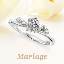 Mariage(マリアージュ):【マリアージュ】~ビーナス:女神~ 女神の頭上にまばゆく輝くティアラ 0.2ct