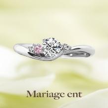 Mariage ent(マリアージュエント)_柔らかでフェミニンなリング|Cherir(シェリール:愛おしい)ピンクアレンジ