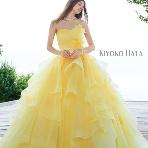 Bridal HIRO(ブライダル ヒロ):【HATA KIYOKO】グラデーションイエローのオシャレパイピングドレス