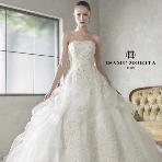 Bridal HIRO(ブライダル ヒロ):【ISAMU MORITA】ミカドシルクの美しいAラインドレス