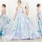 ブライダルHIRO(ブライダル ヒロ):【KIYOKO HATA】マーブル模様をプリントで表現した美しいドレス