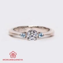 杢目金屋(もくめがねや):【杢目金屋】細身のシンプルなフォルムにダイヤモンドの輝きが映える婚約指輪【恋桜】