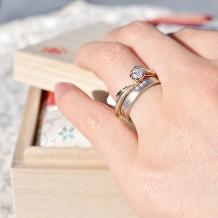 杢目金屋(もくめがねや):【杢目金屋】お二人を結ぶ永遠の赤い糸…永遠の愛を結ぶ結婚指輪「紅ひとすじ」