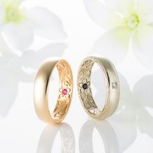 SERRURIA(セルリア)_【MAILE】 ~外はシンプルに、内側を豪華にした結婚指輪~