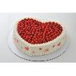 恵比寿 bERGAMO(ベルガモ):「ベリーハートタイプ」ハート型ケーキに甘酸っぱいベリーをたくさんのせたウエディングにピッタリのしあわせケーキ。お二人のお名前入りでお届けします。(サイズ、料金はお問い合わせください)