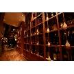 恵比寿 bERGAMO(ベルガモ):入り口からすぐに見えるワインボトル棚。