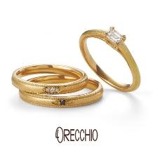 ORECCHIO(オレッキオ):ベチバー~シンプルなデザインにハンマー仕上げを施したアンティーク風デザイン