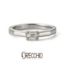 ORECCHIO(オレッキオ):<safari~サファリ>婚約指輪 FE-1204-P