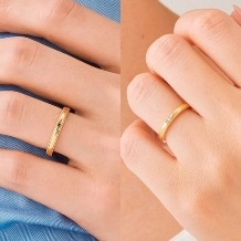 ORECCHIO(オレッキオ):ベチバー~オレッキオオリジナルのハンマー仕上げでアンティーク風な結婚指輪