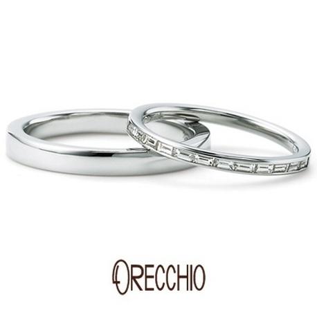 ORECCHIO(オレッキオ):<Siena> バゲットカットのエタニティーリングは細身でエレガントな印象の指輪